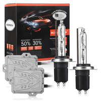 Xenon H7 AC 55W Slim Ballast kit HID Xenon Headlight bulb 12V H1 H3 H11 h7 xenon hid kit 4300k 6000k 8000K Replace Halogen Lamp