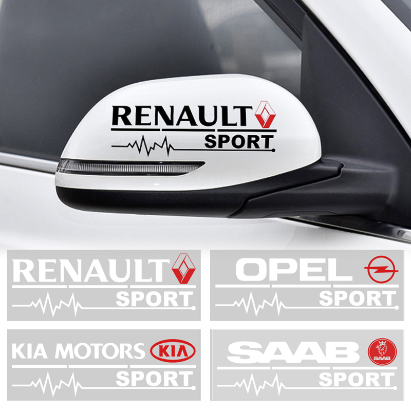 2Pc Car Rearview Mirror Side Door Front Bumper Stickers Body Styling For Mitsubishi KIA BMW Audi Ford Fiat Seat Honda Lada Opel