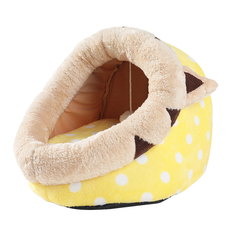 Pet Cat Bed Indoor Kitten House For Cat Warm Small Dogs Bed Nest Cat Cave Cute