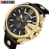 CURREN męski sportowy zegarek kwarcowy mężczyźni Top marka luksusowy projektant zegarek człowiek kwarcowy złoty zegar mężczyzna moda Relogio Masculino data
