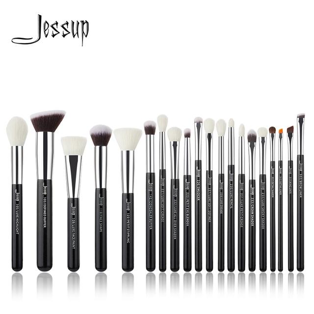 Jessup Schwarz/Silber Professionelle Make Up Pinsel Set Make up Pinsel Tools kit Foundation Puder Pinsel natürliche synthetische haar