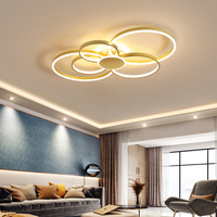 Gold Modern Led Ceiling Lights Metal and Acrylic Ceiling Lamps for Bedroom Dining Room Living Room Surface Mounted Led Lights