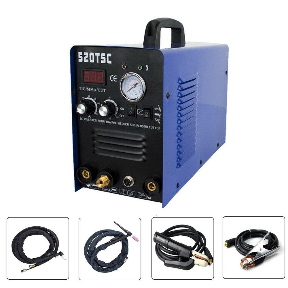 Plasma cutter welder maschine schweißen 3 funktionen 520TSC TIG / MMA / cut 110 / 220V 50A 3 in 1 multi-funktion Plasma Cutter