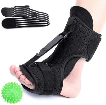 Fascitis Plantar férula nocturna soporte de corrección de caída de pie, férula de soporte elástico ajustable, aliviar eficazmente el dolor de arco del pie