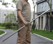 Bastoncini di Escrima in metallo portatili bastoncini di Wushu Kungfu personale di pratica del personale in acciaio Bo