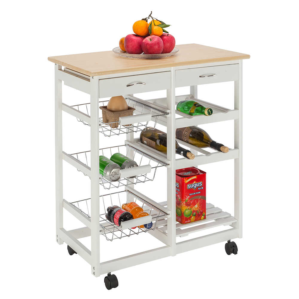 Fch Moveable Kitchen Cart With Two