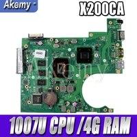 X200CA 마더 보드 1007U CPU 4G RAM For Asus X200 X200C X200CA 노트북 마더 보드 X200CA 메인 보드 X200CA 마더 보드 테스트 ok