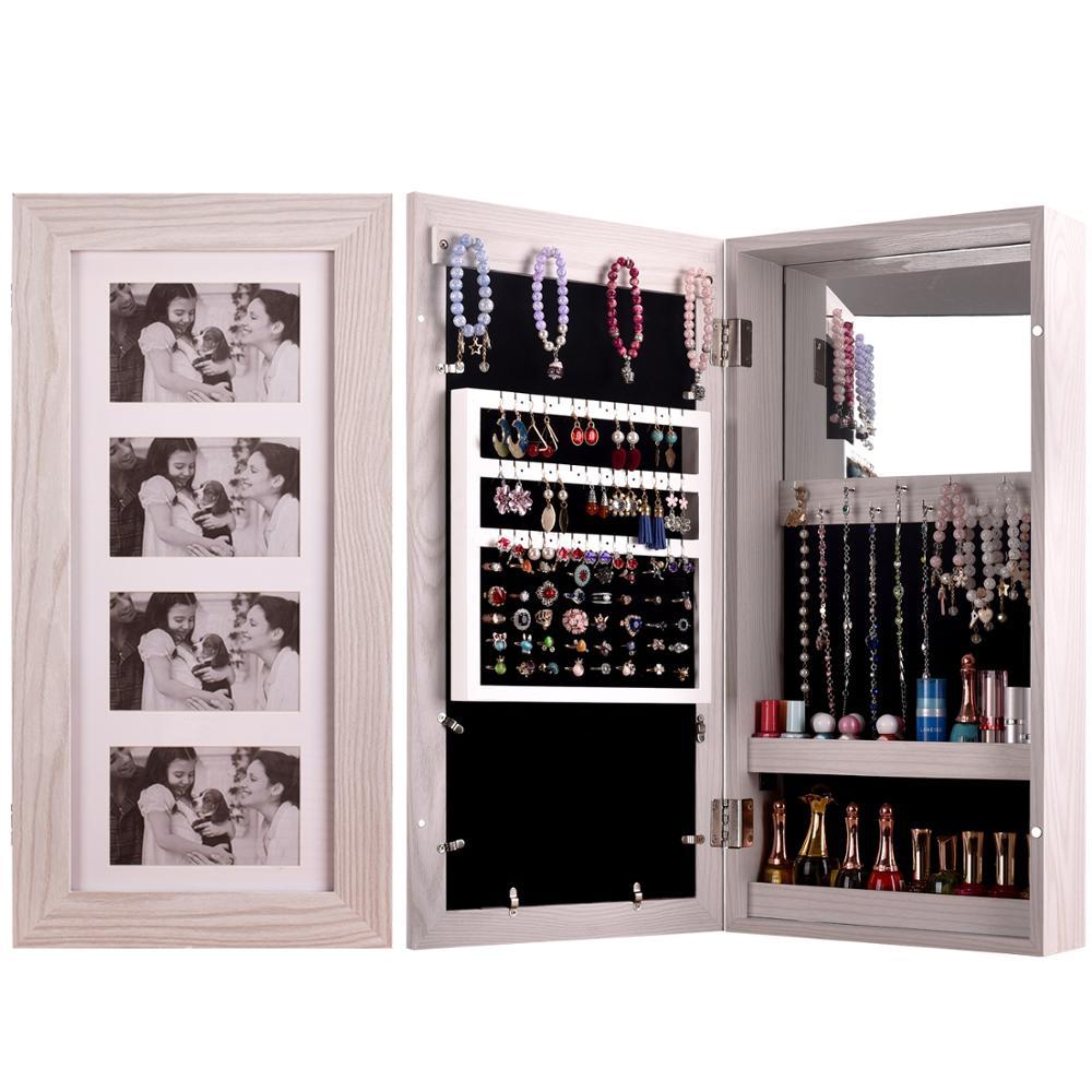 Шкаф для хранения косметики KingYee, зеркало для макияжа, декоративная фоторамка, шкаф для хранения объектива, зеркало