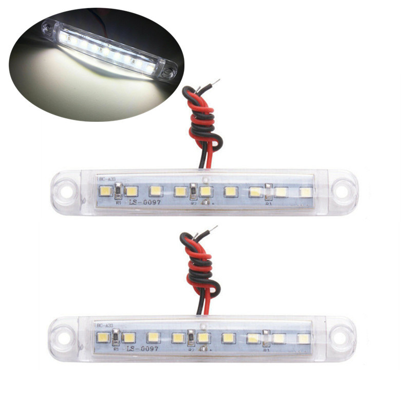 2pcs Waterproof Trailer Light Led 24V 9LED SMD Marker Light Truck Light Side Marker Lights For Trailers Camion Camper