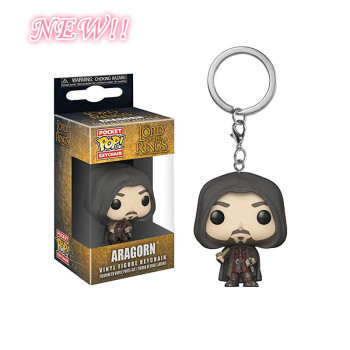 Funko Pop The Lord Of The Ring Aragorn Action Toy Figures Keychain Collection Vinyl Figure Keychain Pocket Pop Keychain Toys image