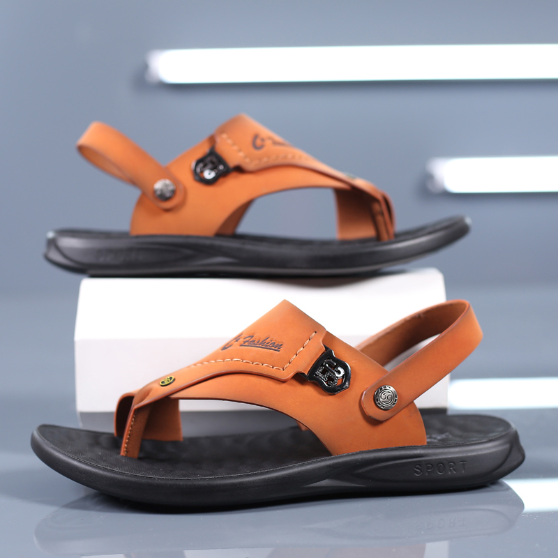 Sandals For Men 2020 New External Wear Slippers Dual-Purpose Toed Leather Sandals For Men SANDALS BEACH Shoes Summer Personalize