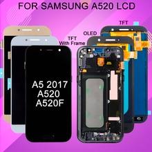 Catteny 5,2 дюймов A520 ЖК-экран для Samsung Galaxy A5 2017 дисплей с сенсорным экраном дигитайзер сборка бесплатная доставка