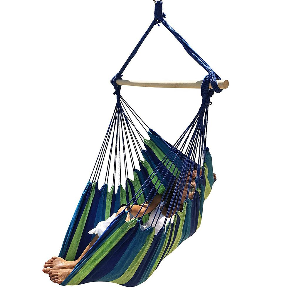 Portable Travel Camping Hanging Hammock Hanging Bed Home Bedroom Swing Bed Lazy Chair Garden Outdoor Hammock