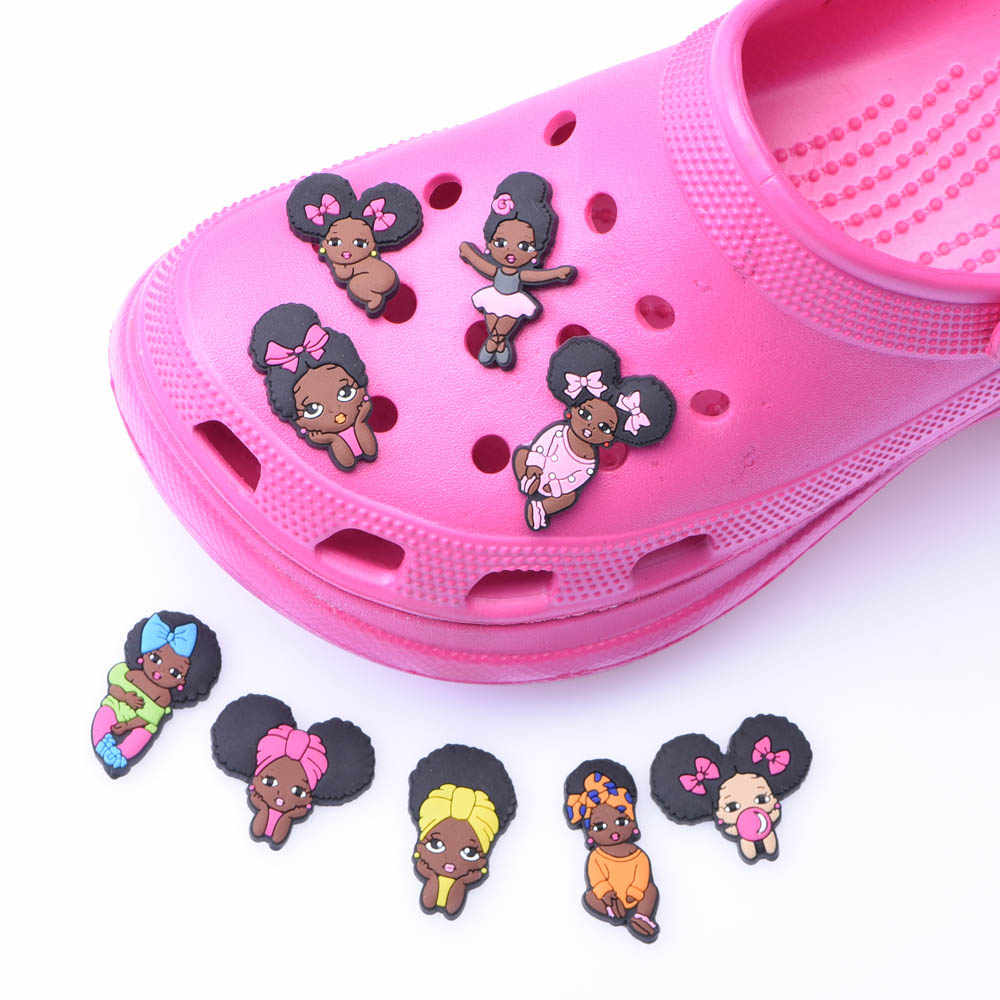 Rainbow Lux Croc Shoe Charms 12 pcs