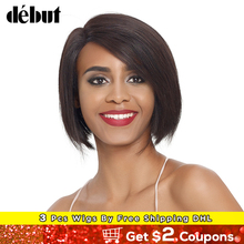 Debut Natural Color L Part Lace Front Human Hair Wigs For Wo