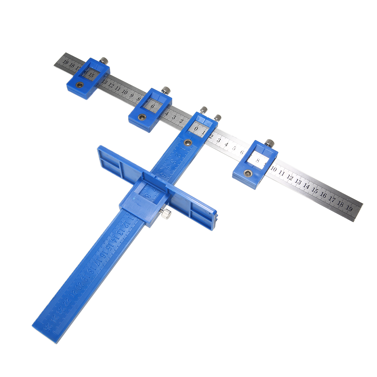Punch Locator Jig Tool Detachable Hole Punching Fixture Ruler Drill Guide Sleeve For Drawer Dowelling Woodworking Supplies