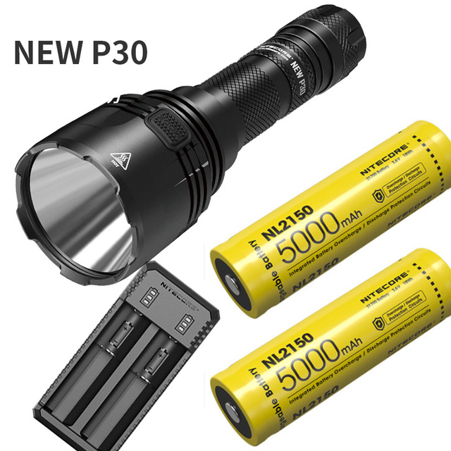 NITECORE NEW P30 Hunting Flashlight XP L HI V3 max 1000 Lumen Long throw 618 meter 21700 Battery Torch Outdoor Sports Light