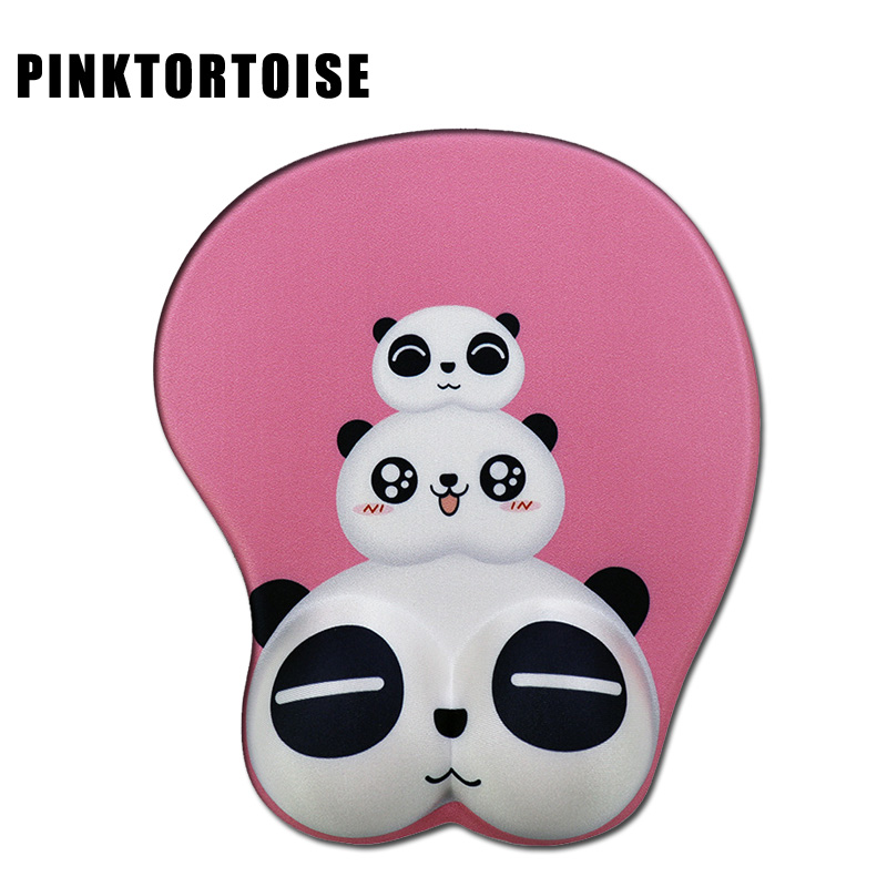 Anime Mousepad Cartoon cute panda Wrist Rest Big soft Breast 3D Gaming Mouse Pad