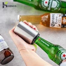 Ouvreur automatique de bouteille de bière, ouvreur de bière d'aimant, accessoires de cuisine d'ouvreur de chapeau de Soda de bière de vin d'ouvreur de poussée vers le bas d'acier inoxydable