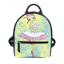women backpack school bag for teenage girls light ladies travel backpack Ballet girl Print backpacks women bag large capacity
