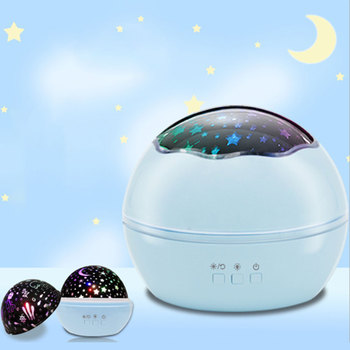 цена на Rotating Night Light Projector Spin Starry Sky Star Master Children Kids Baby Sleep Romantic Led USB Lamp Projection