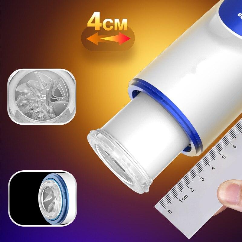 smart Intelligent Automatic Telescopic Male Masturbator Heating Penile Massager Sex Toy Car Accessories for Airpod Xiaomi - 5