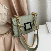 2019New Wave Korean Version of The Wild Chain Small Square Bag Summer Stone Pattern Twill Shoulder Messenger Bag FemaleSmall Bag цена 2017