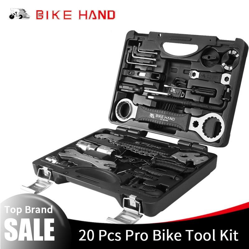 BIKE HAND 22 In 1 Bicycle Repair Tools Kit Box Set Multi MTB Tire Chain Repair Tools Spoke Wrench Kit Hex Screwdriver Bike Tools