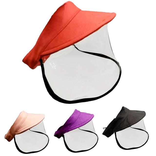 Kid Adjustable Anti Saliva Droplet Safety Health Protection Sun Protection Face Shield Visor Cap Sunhat Sunscreen Fisherman Cap 1