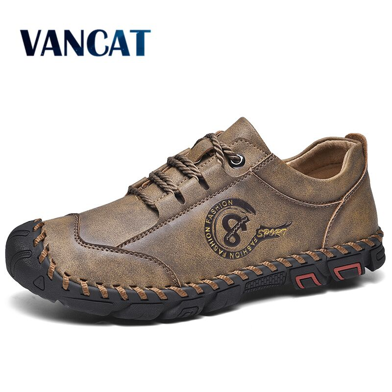 New Comfortable Men Casual Shoes Loafers Men Shoes Quality Split Leather Men's Shoes Men Flats Hot Sale Moccasins Shoes Size 46