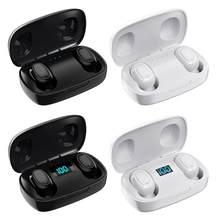 2020 Новый T10S наушники-вкладыши TWS Bluetooth наушники 5,0 Беспроводной-наушники Fone de ouvido сенсорный экран стерео с Мощность цифровой Дисплей гарниту...