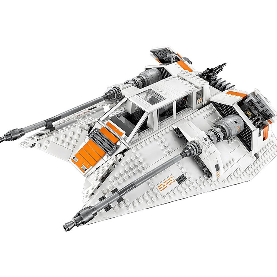 05084 Star Wars Series Snowspeeder Snowfield Aircraft Building Blocks 1468pcs Bricks Compatible With Lepining Doinbby 10129