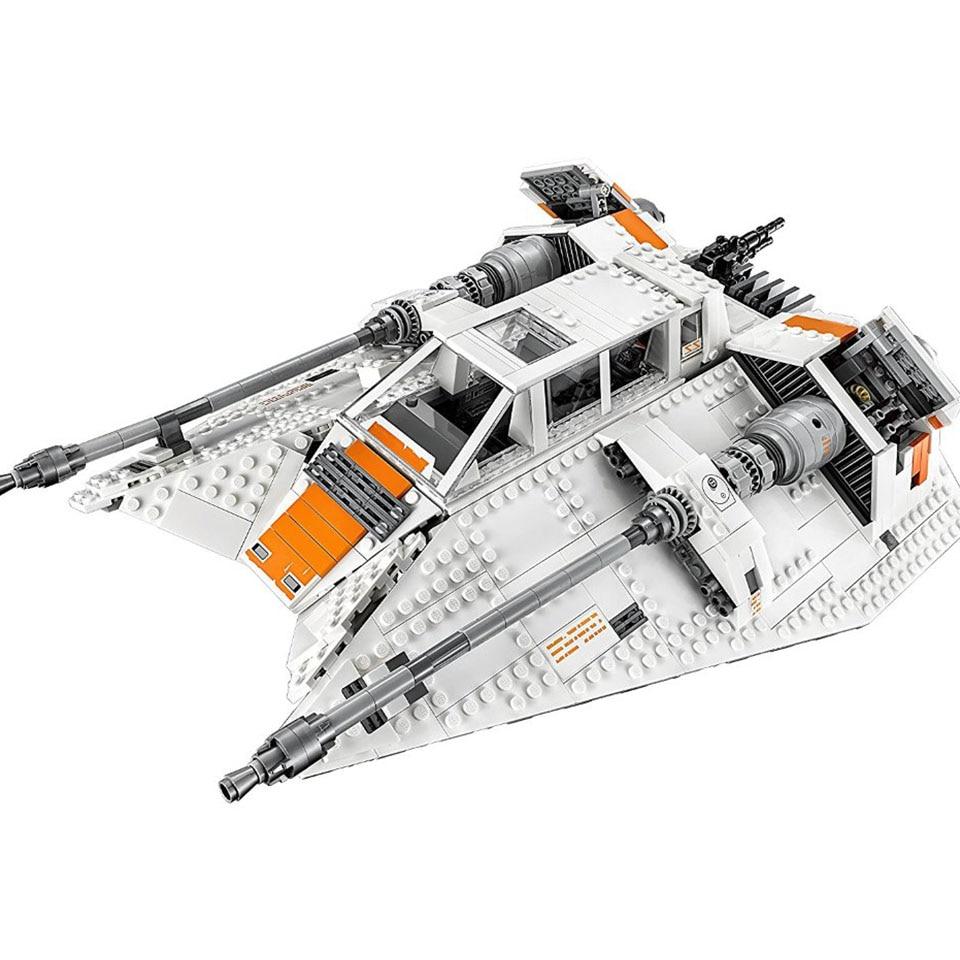 05084 Star Wars Series Snowspeeder Snowfield Aircraft Building Blocks 1468pcs Bricks Compatible With Lepining Doinbby 10129
