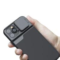 Tokohansun óptica de alta qualidade 5 em 1 lentes do telefone caso telefone para o iphone 11 pro max fisheye 10x 20x lente macro 2x lente telefoto