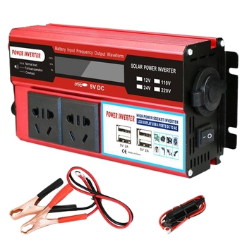 2000W 4 Usb Power Inverter Dc 12V To Ac 220 V Car Adapter Charge Converter Lcd Display Modified Sine Wave Transformer