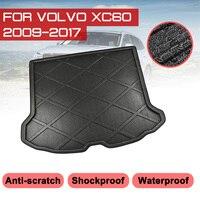 Tapete traseiro da bota do tronco do carro para volvo xc60 2009 2017 tapetes de assoalho à prova dwaterproof água anti forro de carga da bandeja da lama|  -