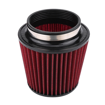 Air Filter High Flow Car Modification Inlet Air Intake Round Cone Air Filters Red PU Cotton Gauze Mesh Filter Mushroom Head universal car air filter 76mm 3in cone shaped high flow cold air intake mesh filter black mushroom head motorbike cleaner new