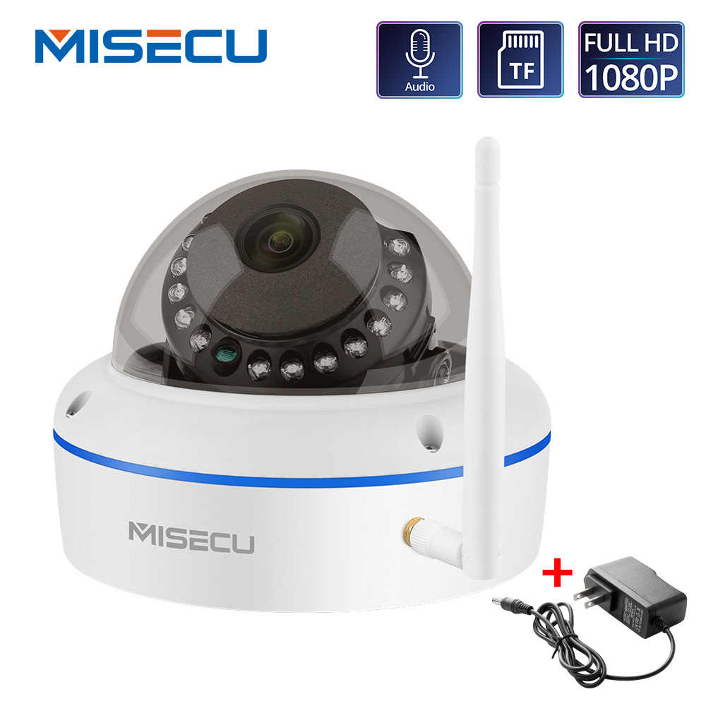 Misecu 1080P Ip Camera Wifi Vandalismebestendig Onvif P2P Tf Card Slot Cctv Dome Camera Draadloze Bedrade Audio opgenomen Security Camera