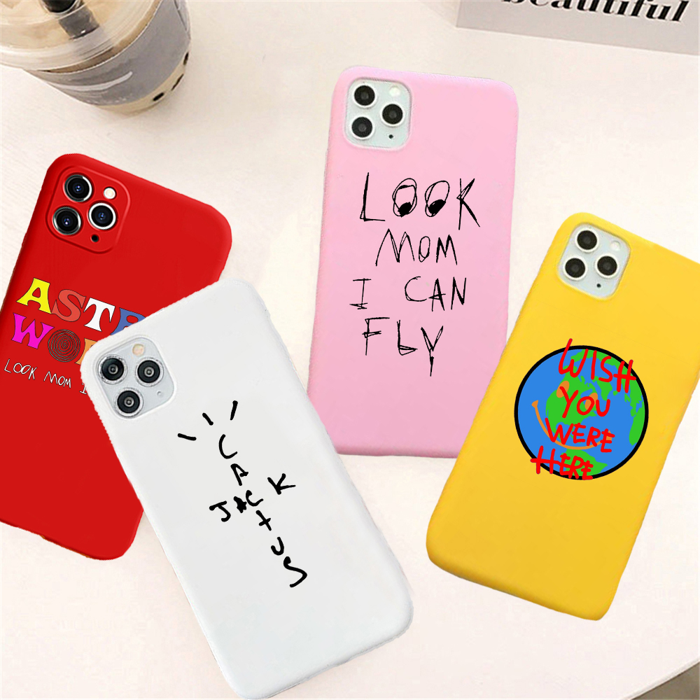 Look Mom I Can Fly Candy Color phone For iphone SE2020 X 7 XS XR XSMAX 11 11Pro Astroworld wish you WAS here travis Cover(China)