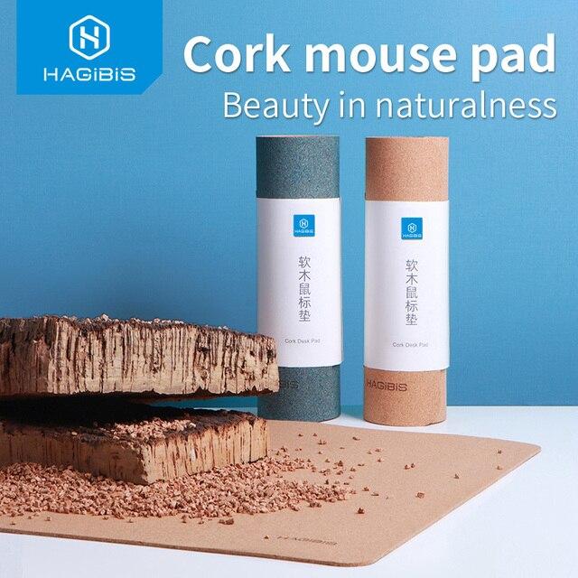 Hagibis mouse pad Large Natural Cork Desk pad Gaming Mousepad Anti-slip waterproof desk mat Protector keyboard pad for PC Laptop
