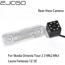 цена на ZJCGO HD CCD Car Rear View Reverse Back Up Parking Waterproof Camera for Skoda Octavia Tour 2 3 Mk2 Mk3 Laura Fantasia 1Z 5E