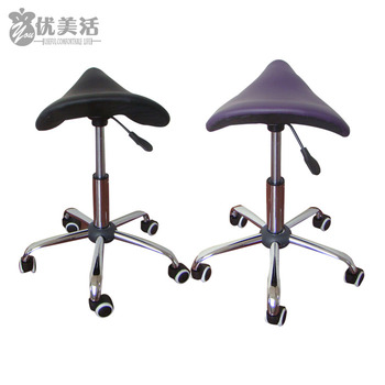 Massage Pedicure Chair Stool Saddle Leather Upholstery Spa Tattoo Beauty Facial Massage Chair Giraffe