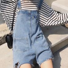 Стильные летние прямые комбинезоны для студентов свободные джинсы