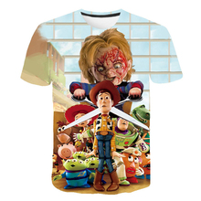 3-14year 2019 New Toy Story 4 Cartoon Letter Children's T-shirt 3D Kids T Shirt Buzz Lightyear/Woody Summer Clothes цены