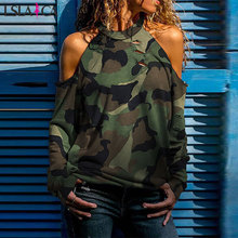 Casual Camouflage Women Blouses Shirts S
