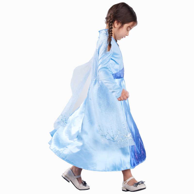 Nieuwe Meisjes Elsa Jurk Sneeuw Koningin Kostuums Cosplay Voor Kinderen Jurk Prinses Disfraz Carnaval Vestido De Festa Infantil Congelados