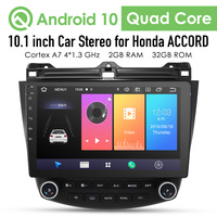 2G+32G Android 10 4G Car Radio Multimedia Player For Honda Accord 7 2003 2007 Navigation GPS Auto 2 din no dvd Cam in dtv dvr bt
