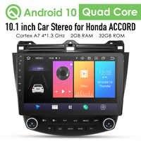 2G + 32G Android 10 4G coche Radio reproductor Multimedia para Honda Accord 7 2003-2007 GPS de navegación de 2 din SIN dvd Cam-En dtv dvr bt