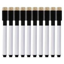 10Pcs/set Black Whiteboard Pen Erasable Marker Pen Office School Stationery Supplies цена в Москве и Питере