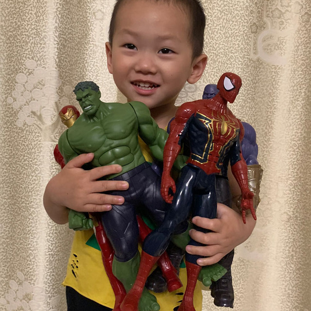 17-30 см Мстители Железный человек Капитан Америка Тор танос Человек-паук Аквамен флэш Супермен Сокол Муравей Человек ПВХ фигурка игрушка под...